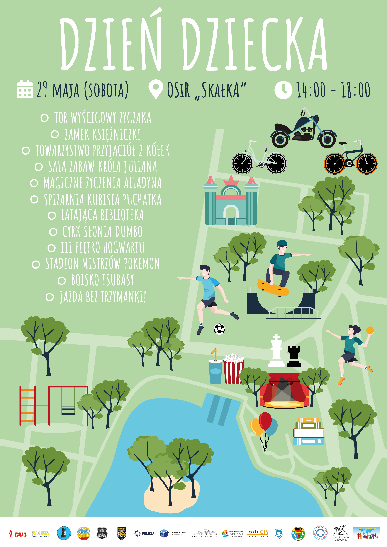 oficjalny plakat Miejskiego Dnia Dziecka 2021